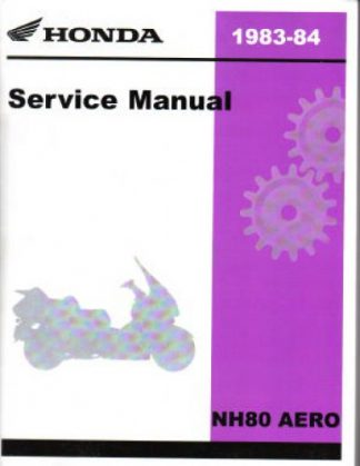 Official 1983-1984 Honda NH80 Factory Service Manual