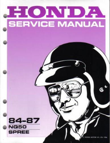 1984 1987 honda nq50 spree scooter service manual 1987 Honda Spree Manual 1984 Honda Spree Manual