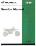 Official 1988 Honda ZB50 Factory Service Manual