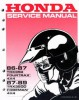 Official 1986-1989 Honda TRX350 Fourtrax TRX350D Foreman ATV Factory Service Manual
