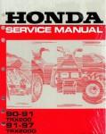 Official 1990-1991 Honda TRX200 and 1991-1997 Honda TRX200D Type 2 Factory Service Manual