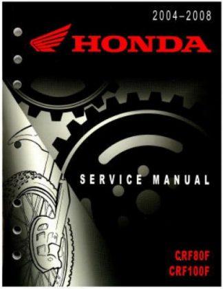 Official 2004-2008 Honda CRF80F CRF100F Factory Service Manual
