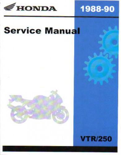 1988 1990 honda vtr250 interceptor service manual rh repairmanual com honda vtr 250 service manual download VTR 250 1994
