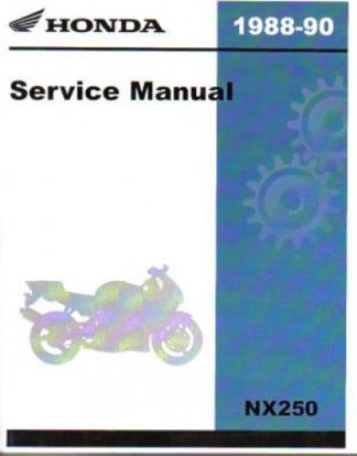 Official 1988-1990 Honda NX250 Factory Service Manual