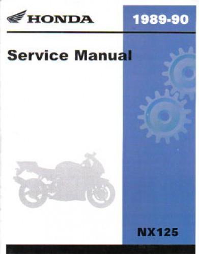 1988-1990 Honda NX125 Motorcycle Repair Workshop Service ManualRepair Manuals Online