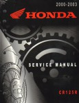Official 2000-2003 Honda CR125 Factory Service Manual