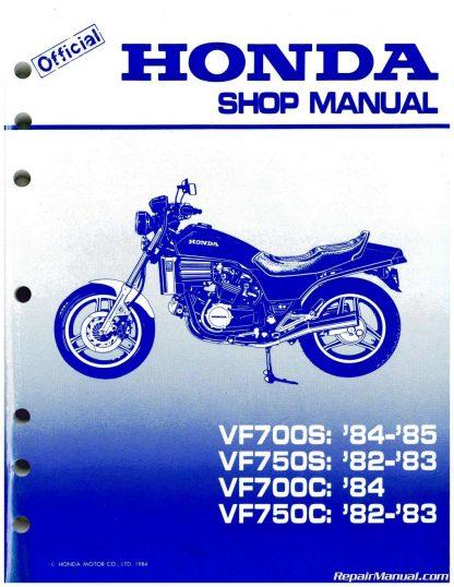 1982 - 1984 Honda VF700C Magna, VF750S V45 Sabre Service Manual