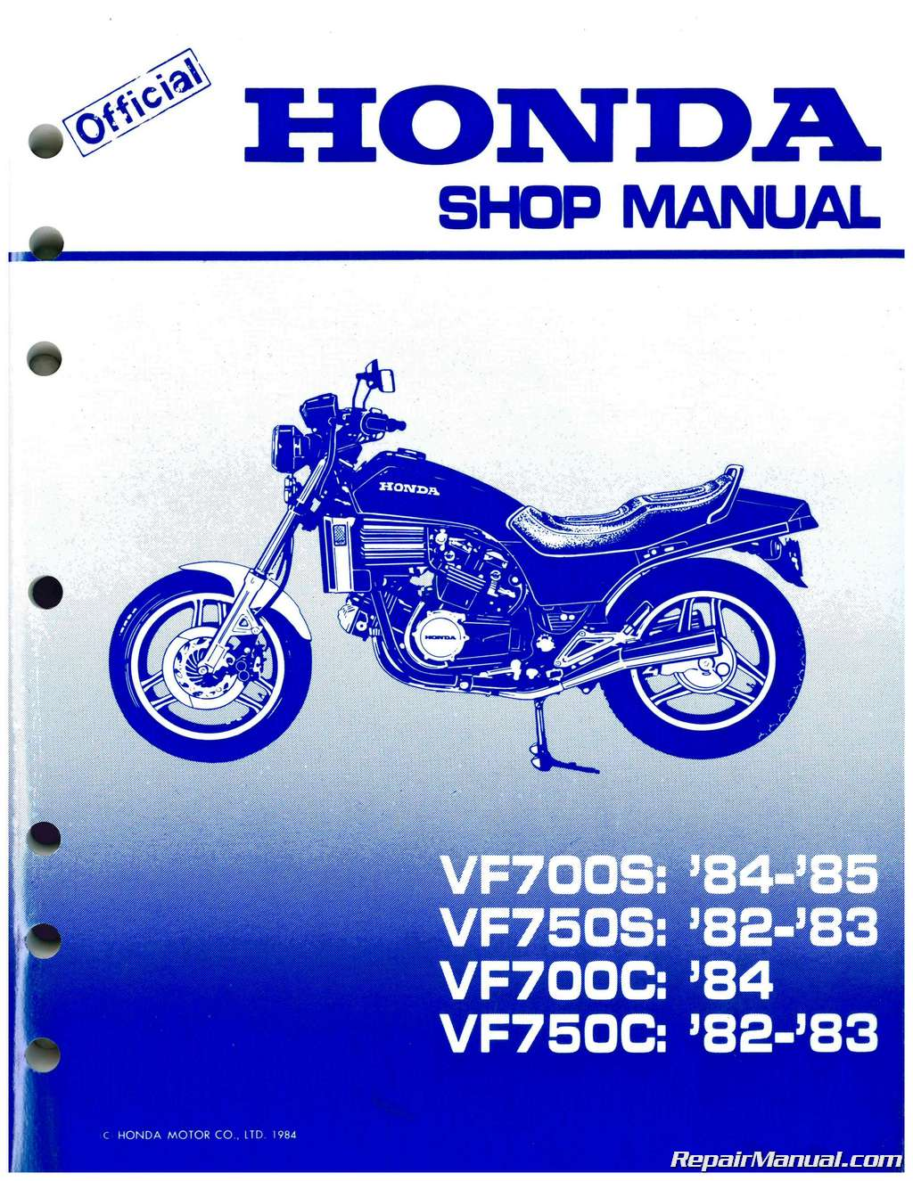 Honda Nighthawk 750 Wiring Diagram Page 4 And 1985 1982 Vf700c Magna Vf750s V45 Sabre Motorcycle Service 1984 Big Red