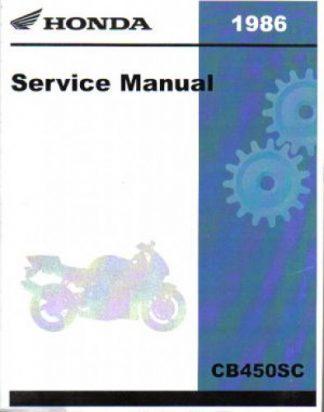 Official 1986 Honda CB450SC Nighthawk Factory Service Manual