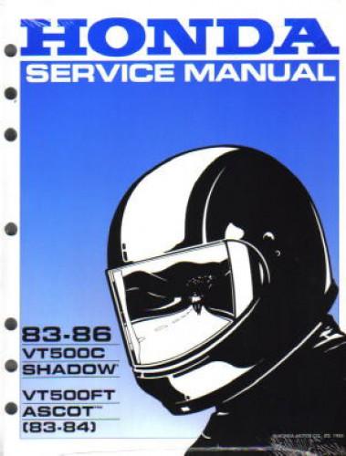 1983 1986 honda vt500ft ascot vt500c shadow motorcycle service manual rh repairmanual com Honda Shadow 500 VT500C Cafe