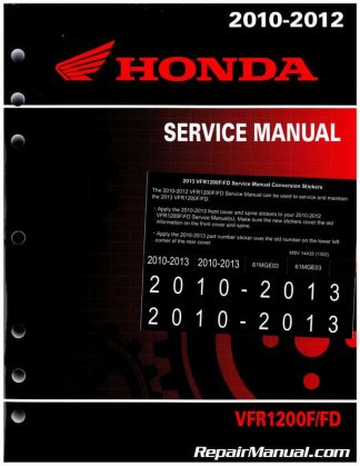 Official 2010-2013 Honda VFR1200F FD Factory Service Manual