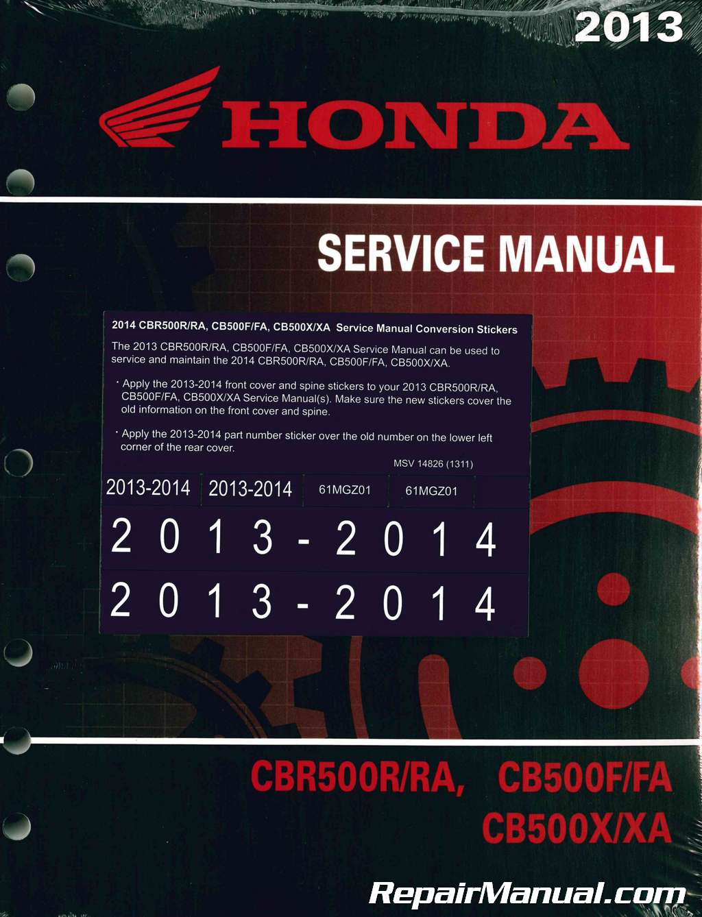 2013 2014 honda cbr500 cb500 service manual. Black Bedroom Furniture Sets. Home Design Ideas