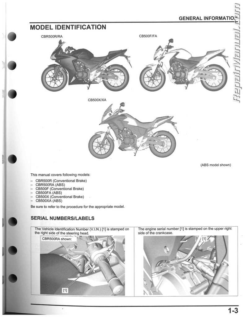 2013 2015 honda cbr500 cb500 motorcycle service manual. Black Bedroom Furniture Sets. Home Design Ideas