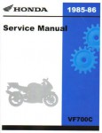 Official 1985-1986 Honda VF700C Magna Factory Service Manual