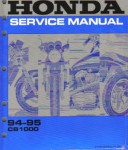 Used Official 1994-1995 Honda CB1000 Factory Service Manual