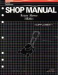 Official Honda HRM21 Lawn Mower Shop Manual