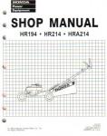 Official Honda HR194 HR214 HRA194 And HRA214 Lawn Mower Shop Manual