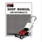 Official Honda HR195 HRA215 Lawn Mower Shop Manual