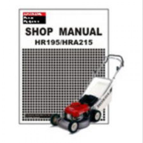 honda hr195 hra215 lawn mower shop manual rh repairmanual com honda mower manual hrr2168vka honda mower manual hrr216
