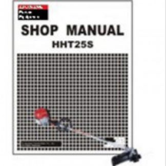 Official Honda HHT25S Trimmer Shop Manual