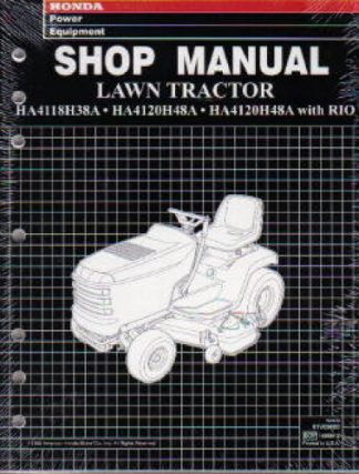 Official Honda HA4118 4120 Lawn Tractor Shop Manual