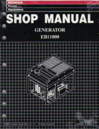 Official Honda EB11000K0 Generator Shop Manual
