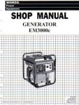 Official Honda EM3000c Generator Shop Manual