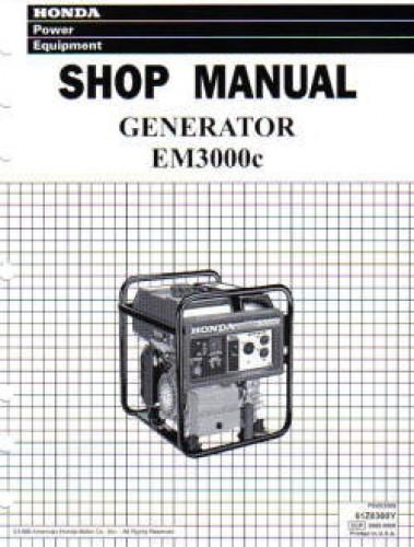 Honda EM3000c Generator Shop Manual
