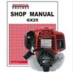 Official Honda GX25 Engine Factory Shop Manual