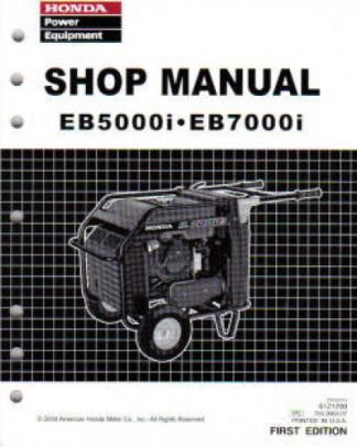 Official Honda EB5000i And EB7000i Generator Shop Manual
