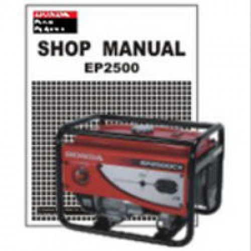Official Honda EP2500CX Generator Shop Manual