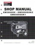 Official Honda EM3800SX EM5000SXK2 And EM6500SXK1 Generator Shop Manual