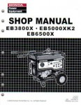 Official Honda EB3800X EB5000XK2 And EB6500X Generator Shop Manual