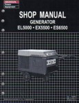 Official Honda EL5000 Generator Shop Manual
