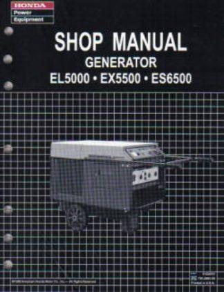 Official Honda EL5000 Generator Shop Manual
