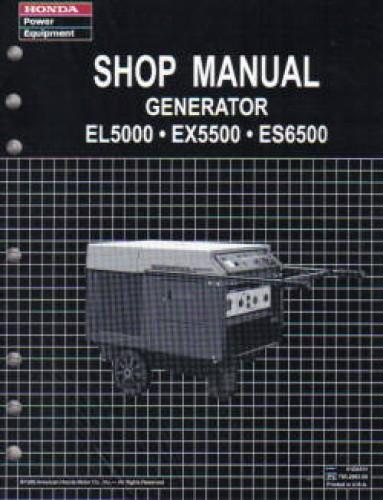 honda es6500 generator owners manual