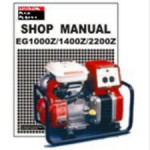 Official Honda EG1000Z EG1400Z And EG2200Z Generator Shop Manual