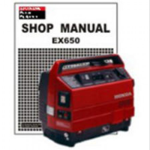 Honda Ex650 Generator Shop Manual