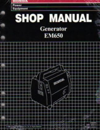 Official Honda EM650 Generator Shop Manual