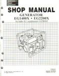 Official Honda EG1400X EG2200X And EG2500X Generator Shop Manual