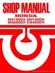 Honda EM1600X EM1800X EM2200X EB2200X Generator Repair Manual - First Edition