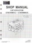 Official Honda EM3500X EM3500SX EM5000X And EM5000SXK0-K1 Generator Shop Manual