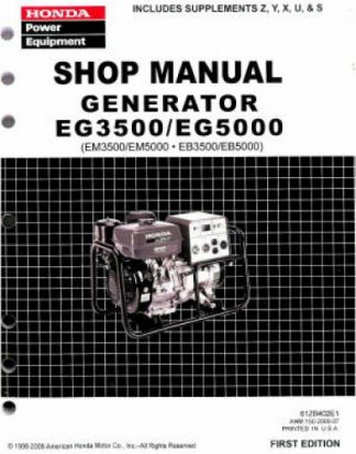 Official Honda EG3500X And EG5000X Generator Shop Manual
