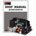 Honda EV4010 EV6010 EVD4010 And EVD6010 Generator Shop Manual