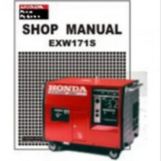 Official Honda EXW171S Generator Shop Manual