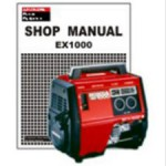 Official Honda EX1000 Generator Shop Manual