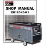 Official Honda EB12DK0-K1 Generator Shop Manual
