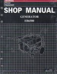 Official Honda EB6500SX Generator Shop Manual
