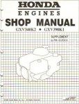 Official Honda GXV390 Engine Shop Manual