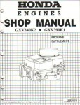 Official Honda GXV340 Engine Shop Manual